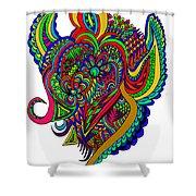 Angel Shower Curtain by Karen Elzinga