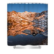 Angel Lake Alpenglow Shower Curtain