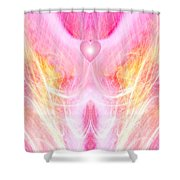 Angel Of Divine Love Shower Curtain