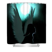 Angel Of Moonlight Shower Curtain