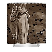 Angel Of Stone S Shower Curtain