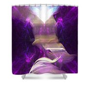 Angel Of The Akasha Shower Curtain