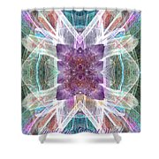 Angel Of The Crystal World Shower Curtain