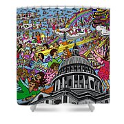 Angel Pickup And Delivery Shower Curtain by Karen Elzinga
