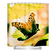 Angel Wing In Bright Pastels Shower Curtain