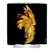 Angel Wings 1 Shower Curtain by Kim Sy Ok