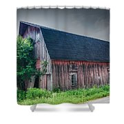 Angelica Barn In Hdr Shower Curtain