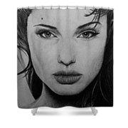 Angelina Jolie Shower Curtain