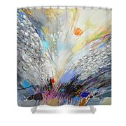 Angels Presence  - Square Painting Shower Curtain