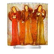 Angels Rejoicing Together Shower Curtain