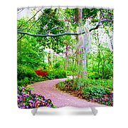 Angels Watch Over You Shower Curtain by Susanna  Katherine