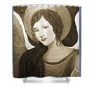 Angels Watching Over Me Shower Curtain by The Art With A Heart By Charlotte Phillips