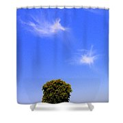 Angels Watching Over Tree Shower Curtain