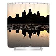 Angkor Wat At Sunrise Shower Curtain