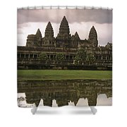 Angkor Wat Temple Reflected Shower Curtain