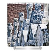Angled Heahstones Shower Curtain