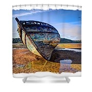 Anglesey Shipwreck Shower Curtain