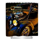 Anglia Dragster And A Duce Staged For A Grudge Run  Shower Curtain