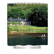 Angling, Delphi Lodge, Co Mayo, Ireland Shower Curtain