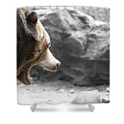 Angry Grizz Shower Curtain
