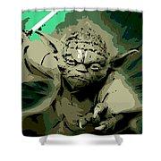 Angry Yoda Shower Curtain