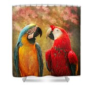 Animal - Parrot - We'll Always Have Parrots Shower Curtain