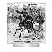 Animal Cruelty, 1877 Shower Curtain