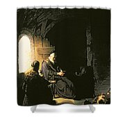 Anna And The Blind Tobit Shower Curtain