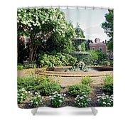 Annapolis Fountain Garden Shower Curtain
