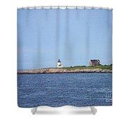 Annisquam Harbor Lighthouse Shower Curtain