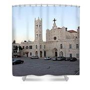 Annunciation Latin Church In Beit Jala Shower Curtain