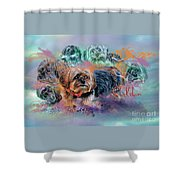 Another Birthday 112 Years Shower Curtain by Kathy Tarochione