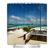 Another Day. Maldives Shower Curtain