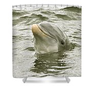 Another Smiling Pose Shower Curtain