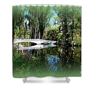Another White Bridge In Magnolia Gardens Charleston Sc II Shower Curtain