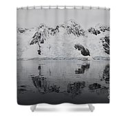 Antarctic Mountains Reflected Shower Curtain