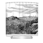 Anthony Gap New Mexico Texas Shower Curtain