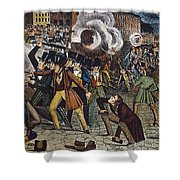 Anti-catholic Mob, 1844 Shower Curtain