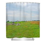 Antietam Battle Of The Cornfield Shower Curtain