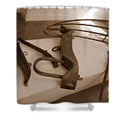 Antiquated Plantation Tools - 2 Shower Curtain