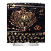 Antiquated Typewriter Shower Curtain