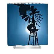 Antique Aermotor Windmill Shower Curtain
