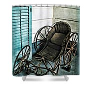 Antique Baby Carriage Shower Curtain