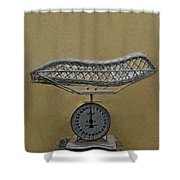 Antique Baby Scale Shower Curtain