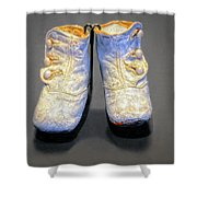 Antique Baby Shoes Shower Curtain