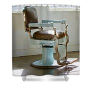 Antique Barber Chair Shower Curtain