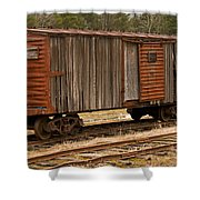 Antique Boxcar Shower Curtain