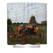 Antique Buggy In Fall Colors Shower Curtain
