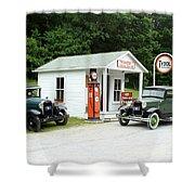 Antique Cars Shower Curtain