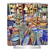 Antique Dishes Fishs Eddy New York Shower Curtain